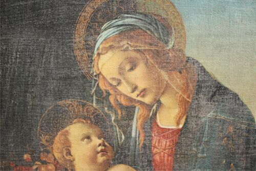 Vintage Venetian Reproduction Sandro Botticelli Madonna with the Child on canvas