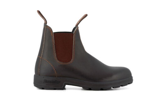 Blundstone 500 Unisex Stout Brown Leather Chelsea Ankle Boots