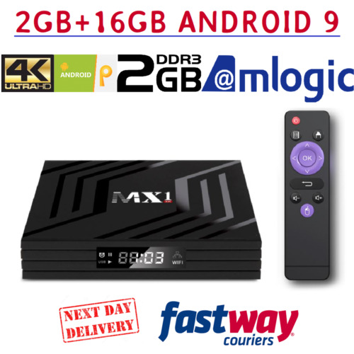 Android 9.0 Smart Tv Box 4K Ultra HD Media Player Wifi Quad Core  Netfli 2GB/16G <br/> ✔Authorised Dealer In Ireland  ✔Fully Updated