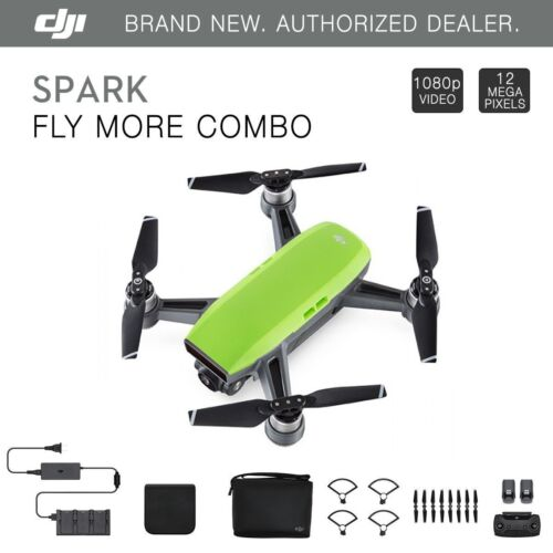 DJI Spark Fly More Combo - Meadow Green Quadcopter Drone - 12MP 1080p Video