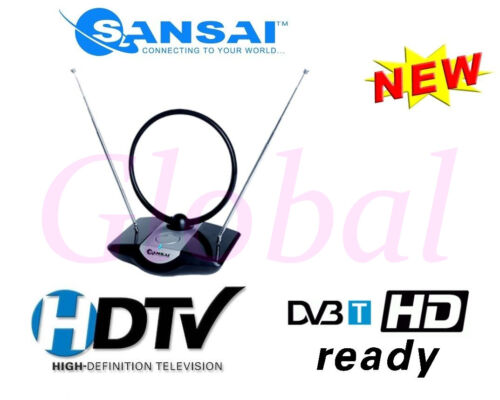 Amplified Indoor TV Antenna HDTV/UHF/VHF DTT DAB DVB-T Ready - ATN958C