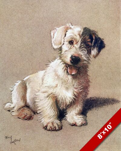 SEALYHAM TERRIER PET PUPPY DOG ANIMAL ART CECIL ALDIN PAINTING PRINT REAL CANVAS