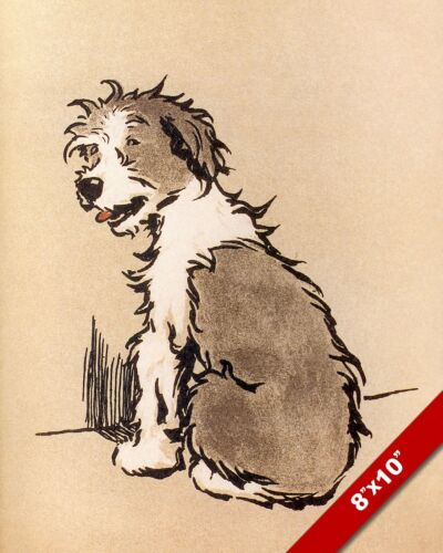 ON TIME OUT PET PUPPY DOG ANIMAL ART CECIL ALDIN PAINTING PRINT ON REAL CANVAS