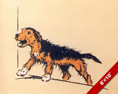 WHATS UPSTAIRS PET PUPPY DOG ANIMAL ART CECIL ALDIN PAINTING PRINT REAL CANVAS
