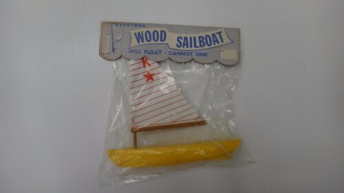 Vintage Original KEYSTONE WOOD SAILBOAT