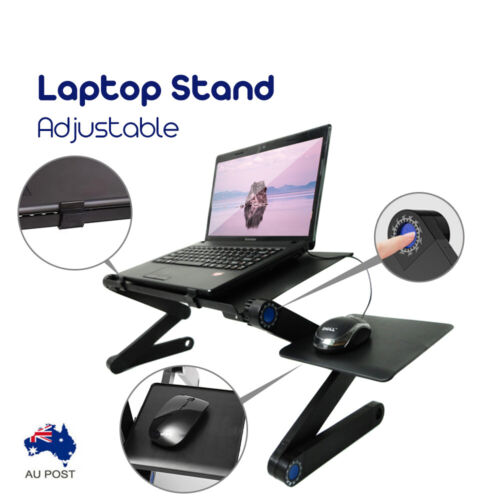 Laptop Stand Desk Table Portable Foldable Tray Adjustable Sofa Bed Mouse Pad