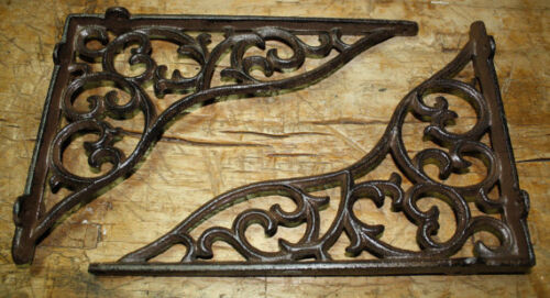 4 Cast Iron Antique Style HEAVY DUTY VINE Brackets Garden Braces Shelf Bracket