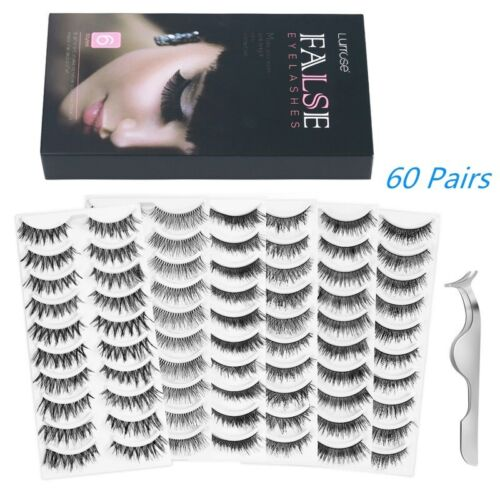 80 Pairs Soft Natural Thick Long False Fake Eyelashes Eye Lashes Handmade Makeup <br/> 80Pairs!!!AU Stock!!! 1000+Sold!!!