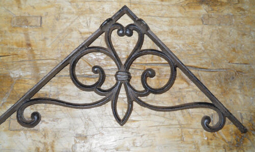 4 Cast Iron Antique Style Large VICTORIAN Brackets Garden Braces Shelf Bracket