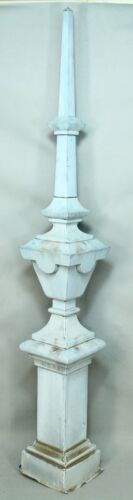 * Antique Baroque Zinc/Tin Rooftop Architectural Spire Finial Roof Obelisk