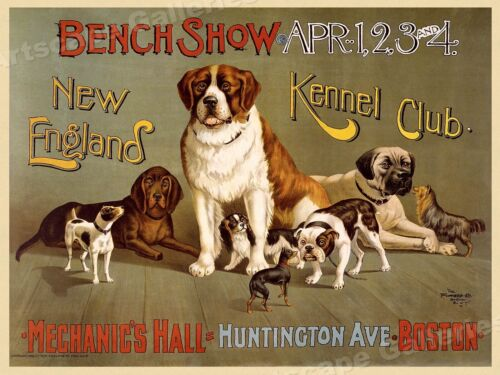 1901 Mascoutah Kennel Club Chicago Dog Show Vintage Poster 16x24