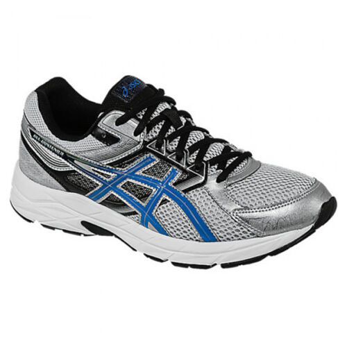 NEW Mens Asics Gel Contend 3 Running Shoes Silver / Blue / Black sizes 7 or 7.5