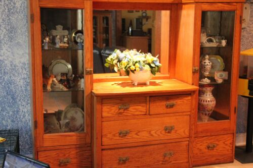 NEED TO SELL!! Antique Oak Sideboard and China Cabinet