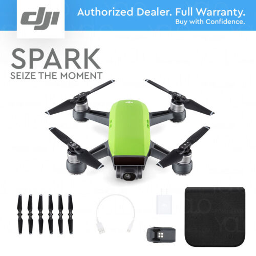 DJI SPARK - Meadow Green. 12MP Camera, 1080p Video, 2-Axis Gimbal, Active Track