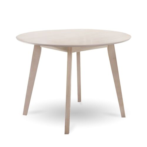 EVA Round Dining Table Whitewashed 4 Seater Scandinavian Solid Timber Oak Veneer <br/> ⭐EXTRA 3% off⭐with code PLACE⭐Top Quality⭐