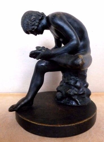 """Grand Tour Bronze """"Spinario"""" The Boy with a Thorn  Sommer Foundry Naples Italy"""