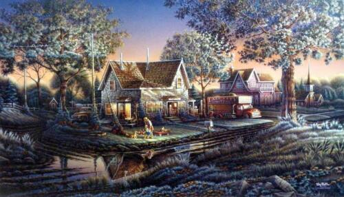 """Terry Redlin """"His First Friend"""" Signed and Numbered Print 32"""" x18.5"""""""