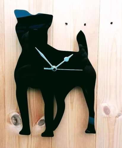 DOG CLOCK WITH DOGS NAME PATTERDALE TERRIER