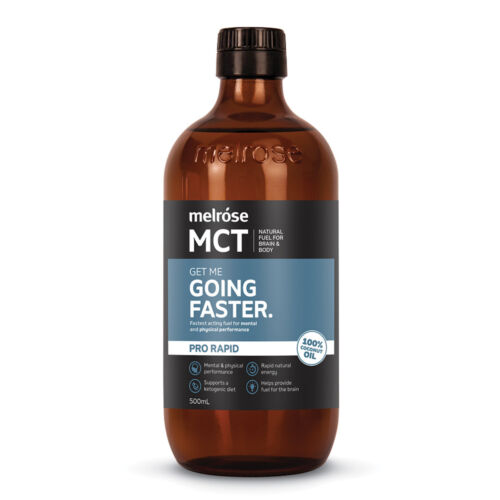 2 x 500ml MELROSE MCT Pro Rapid Going Faster Oil  ( 1L total ) 100% coconut oil