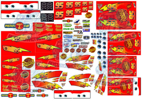LIGHTNING MCQUEEN DECALS | Cars Movie Waterslide Decals in all popular scales