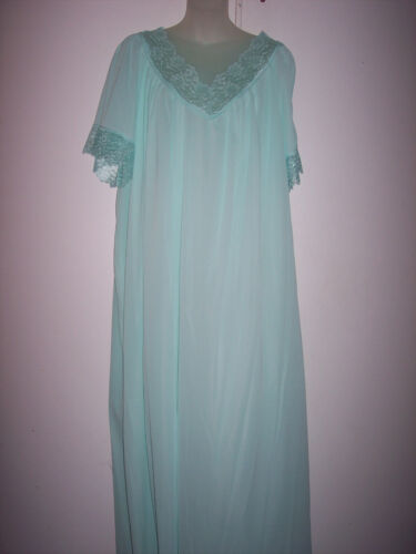 1-X 8057X CARIBBEAN SEA 100% NYLON LONG NIGHT GOWN NW TAG  #G 585