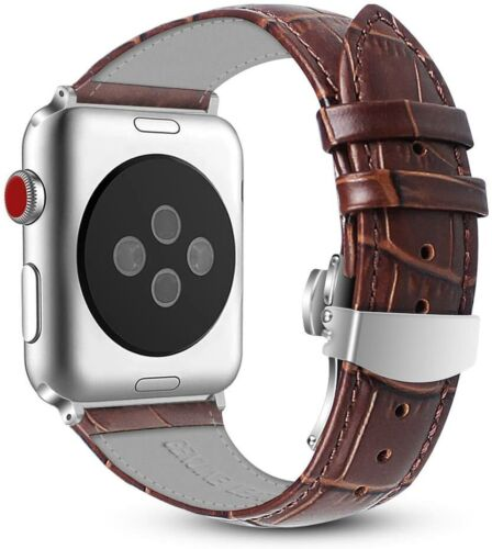 For Apple Watch Series 38mm / 42mm 3 2 1 Genuine Leather Strap Band w/ Buckle