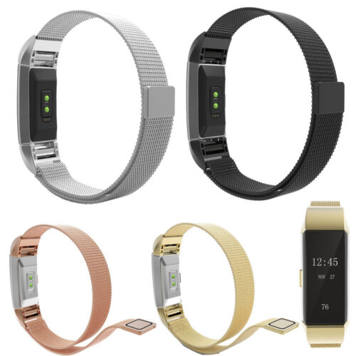Luxury Milanese Stainless Steel Watch Band Strap For Fitbit Charge 2 Tracker