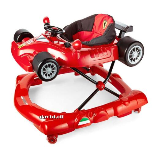 Licensed Sturdy Scuderia Ferrari Car Baby Walker Vibrating Acvity Play Centre <br/> 10% OFF with the Code PSYCHED. Limited Time only.