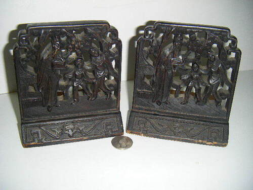antique Bookends Chinese handcarved Bookends