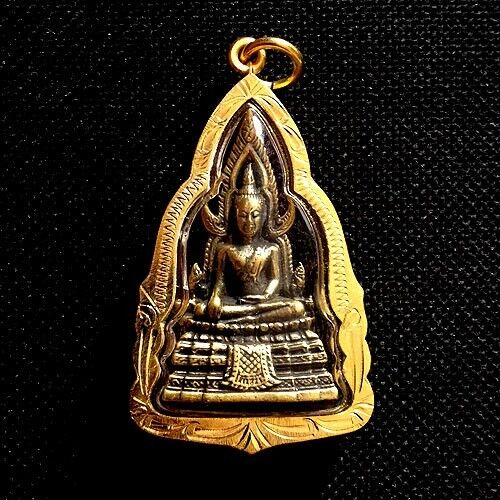 Phra Buddha Chinnarat Pendant Thai Amulet Sacred Protect Charm Lucky Success
