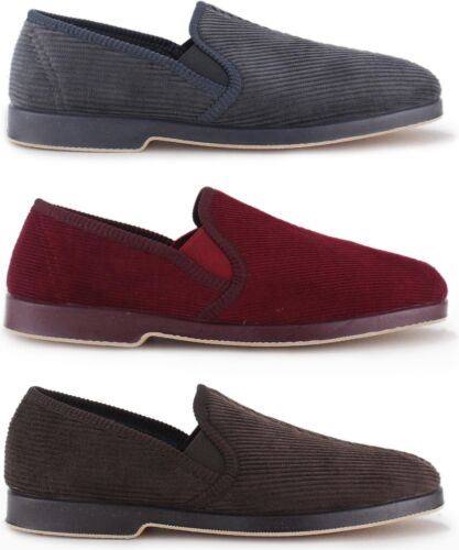 338cd8cee6d Great British Slippers EXETER Mens Ribbed Cosy Warm Winter Slip On Full  Slippers