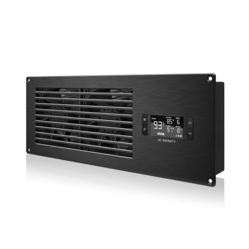 """AIRFRAME T7-N, Cooling Fan System 17"""" Intake, for AV Equipment Rooms & Closets"""