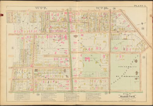1888 E. ROBINSON MONROE COUNTY NY, UNIVERSITY OF ROCHESTER COPY ATLAS MAP
