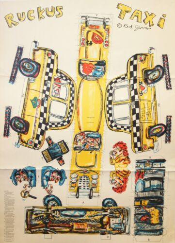 RED GROOMS-NY/TN Pop Artist-Signed Lim.Ed Litho-Ruckus Taxi Assemblage