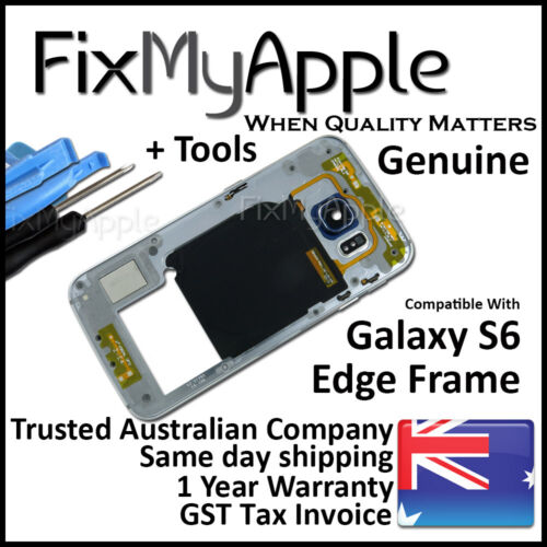 Samsung Galaxy S6 Edge G925 Black Middle Metal Back Frame Bezel Housing Chassis