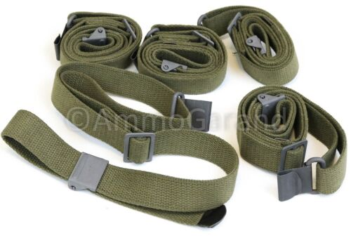 (5-Pack) US Made M1 Garand Web Sling 2-Point OD Green Cotton NEW Reproductions - 156443