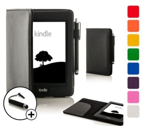 Forefront Cases Leather Smart Case Cover for Amazon Kindle Voyage