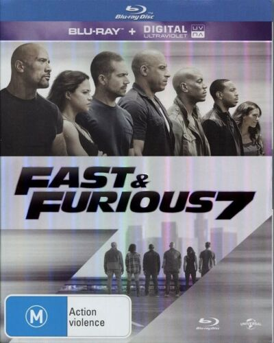 """FAST & FURIOUS 7"" Blu-ray - Region [B] NEW - CLEARANCE -"