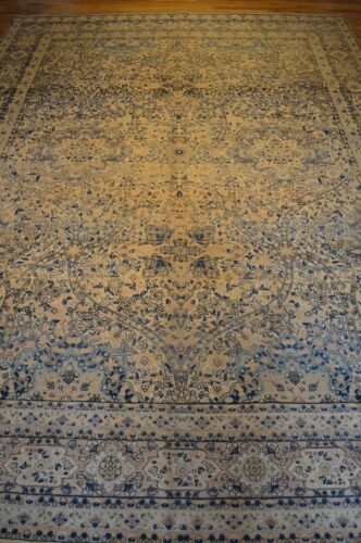 9'x13' (1890) Handmade Knotted Genuine Antique Rug - FREE SHIPPING