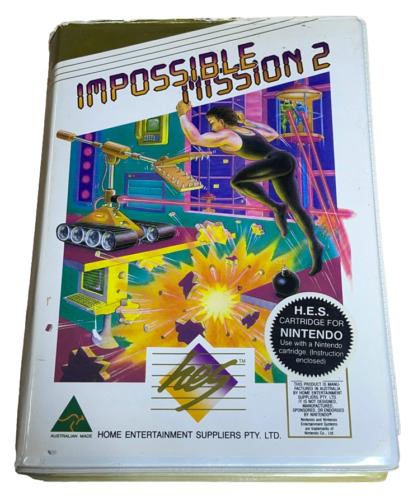 Impossible Mission 2 Nintendo HES NES Boxed PAL *Complete* Piggy Back