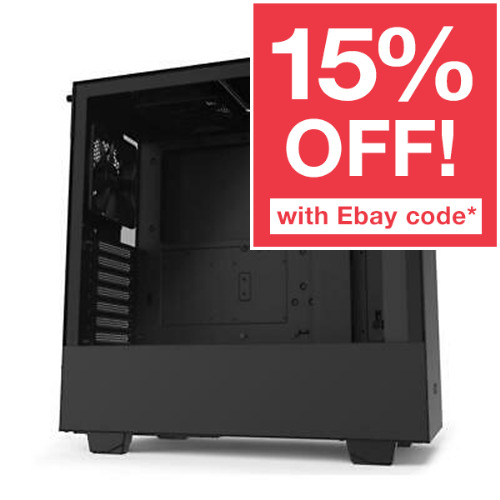 NZXT H510 ATX Gaming Tempered Glass Case Matte Black Mid Tower Window Desktop PC <br/> 15% OFF With Code PANTHER. Ebay Plus Only. T&C Apply.