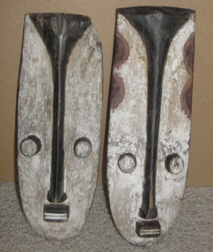 2 Old African Dan Gere Tribal Mask Grebo Kran Wee Wi African Art Antique Masque
