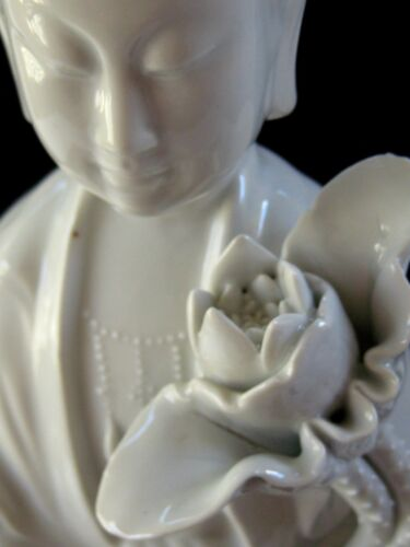 """Early 20th Cent. Chinese Porcelain Blanc de Chine Figurine of Kwan Yin 18"""" TALL"""
