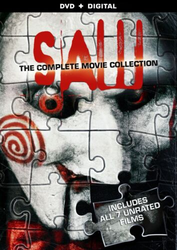 Saw The Complete Movie Collection 1 2 3 4 5 6 7  Region 1 New DVD (4 Discs)