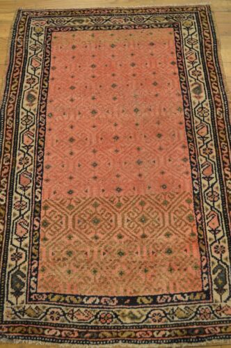 2'x4' Persian Hamedan Antique (1920) Handmade Genuine Rug - FREE SHIPPING!