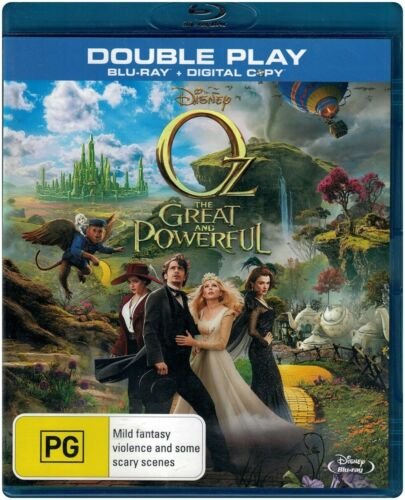 """Oz THE GREAT AND POWERFUL"" Blu-ray + Digital Copy, 2 Disc Set - Region Free NEW"