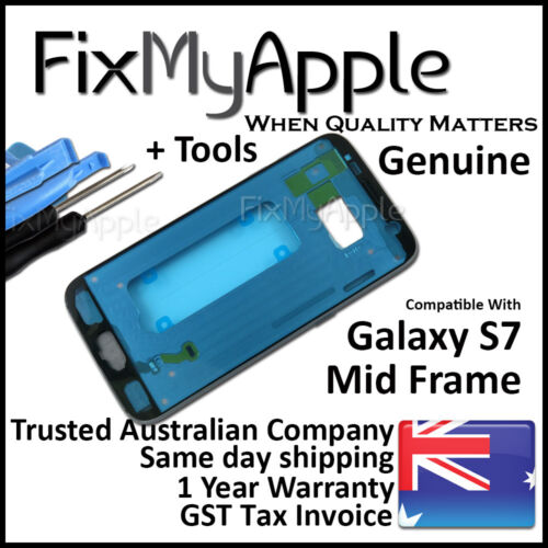 Samsung Galaxy S7 G930 Black Mid Back Frame Bezel Housing Chassis Replacement
