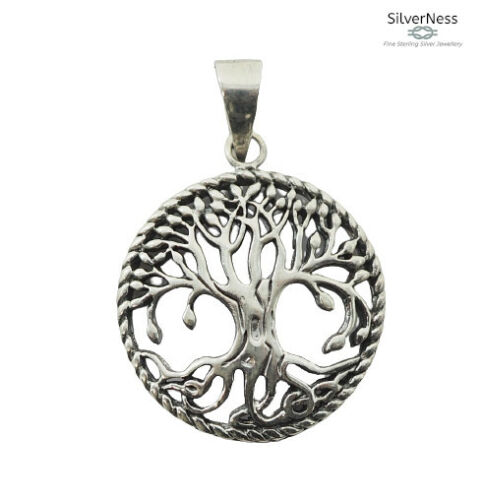 SilverNess Jewellery Small Tree of Life Pendant: 925 Sterling Silver