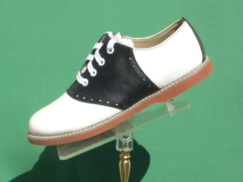 Classic Black/white school Saddle Oxford Shoes Leather US Wms 5-12 (#200)