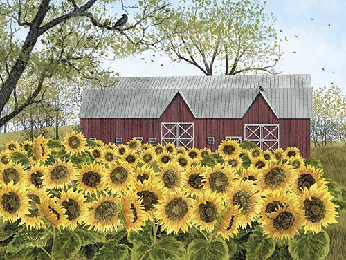Billy Jacobs Sunshine Sunflower Country Art Print 16 x 12